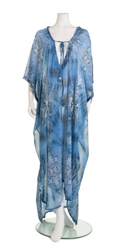 blue snakeskin jumpsuit