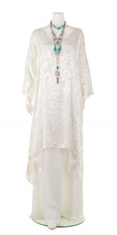 devore silk tunic