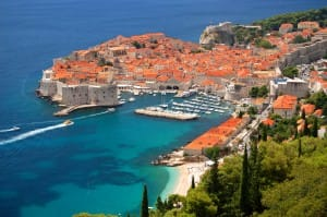 View on the Old Town of Dubrovnik in Croatia