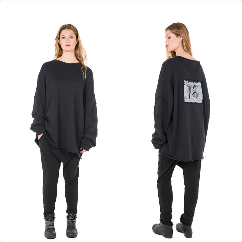 NELLY-JOHASSON-black-Adoria-AW16-sweatshirt-top-from-idaretobe-authorised-UK-stockist-00001