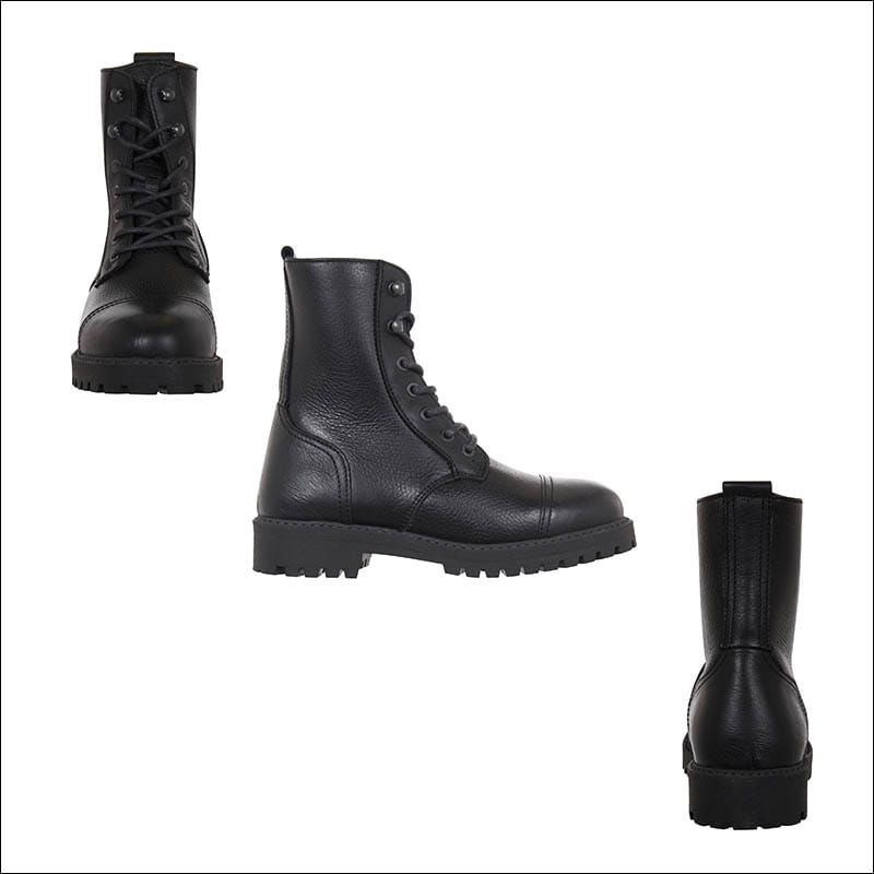 Ivan-Grundahl-womens-black-leather-boots-idaretobe-authorised-UK-stockist