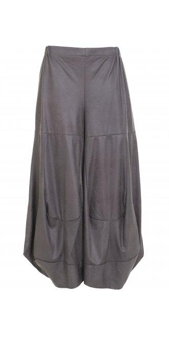 82b845ba69c9 Turbulence Grey Faux Leather Trouser