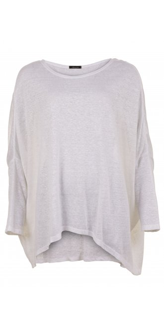 Idaretobe Design Grey Stripe Asymmetric Tunic - Exclusive