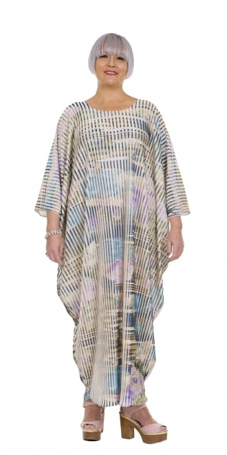 Yiannis Karitsiotis Printed Fine Pleat Occasion Dress
