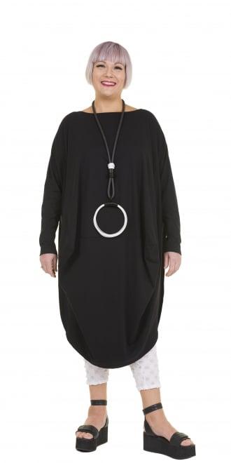 Kamuflage Black Taffeta Wire Hem Dress | idaretobe