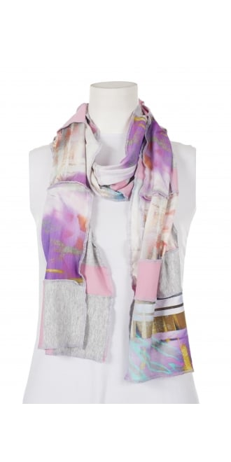 Mp By Style Patchwork Jersey Scarf