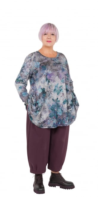 Mp By Style Japanese Floral Tunic