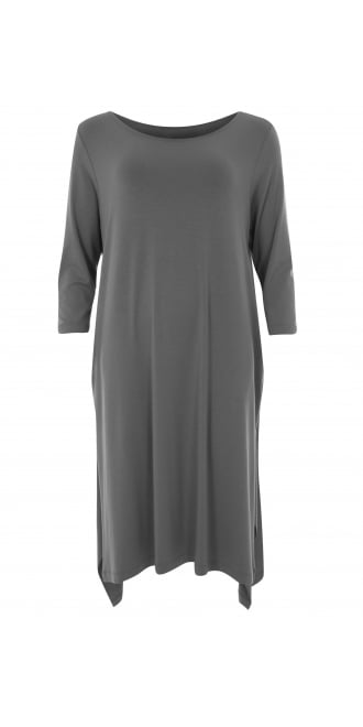 Xenia Design Bita Grey Jersey Tunic-Dress
