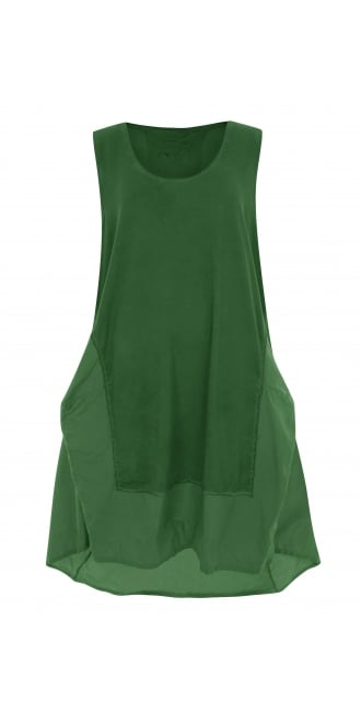 Barbara Speer Green Architectural Dress
