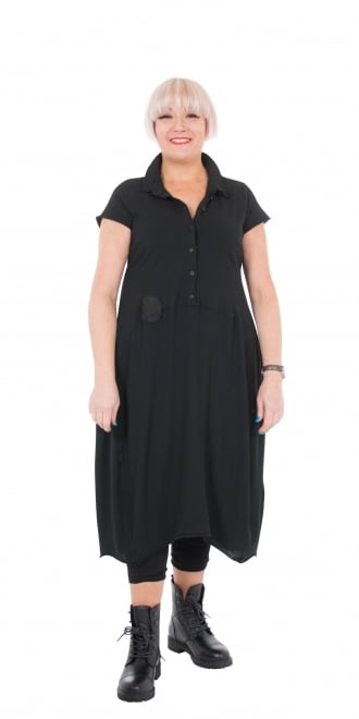 Rundholz Dip Black Crisp Fit & Curve Dress