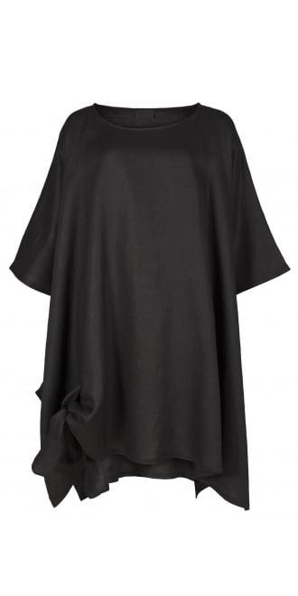 Idaretobe Brand Lagenlook Black Premium Asymmetric Tunic