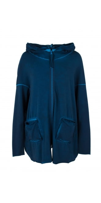 Barbara Speer Blue Hooded Bio Cotton Jacket