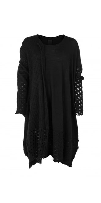 Rundholz Black Label Black Knitted Wool Tunic