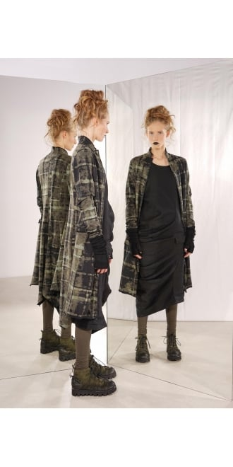 Rundholz Black Label Green Check Jersey Coat