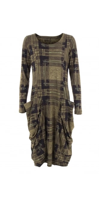 Rundholz Black Label Fitted Green Print Jersey Dress