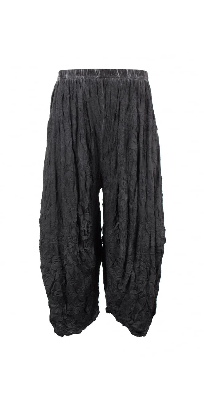 Barbara Speer Anthracite Crushed Jersey Balloon Trouser