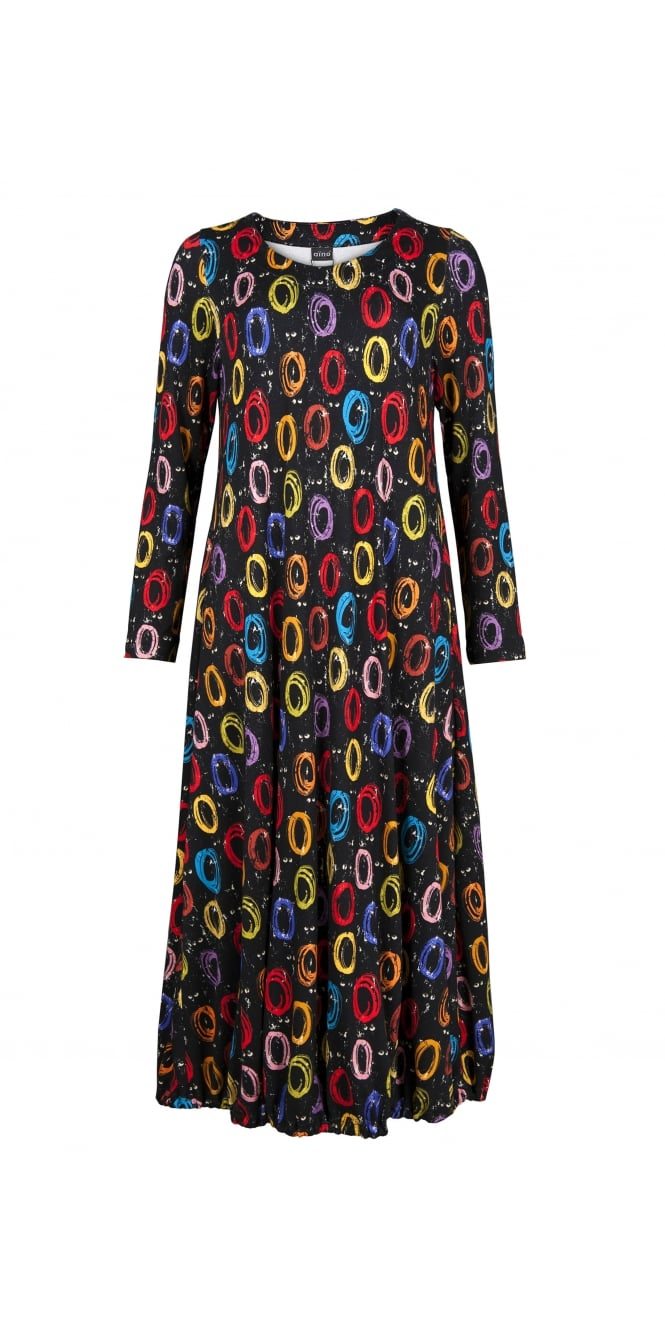 Aino Rings Printed Jersey Dress