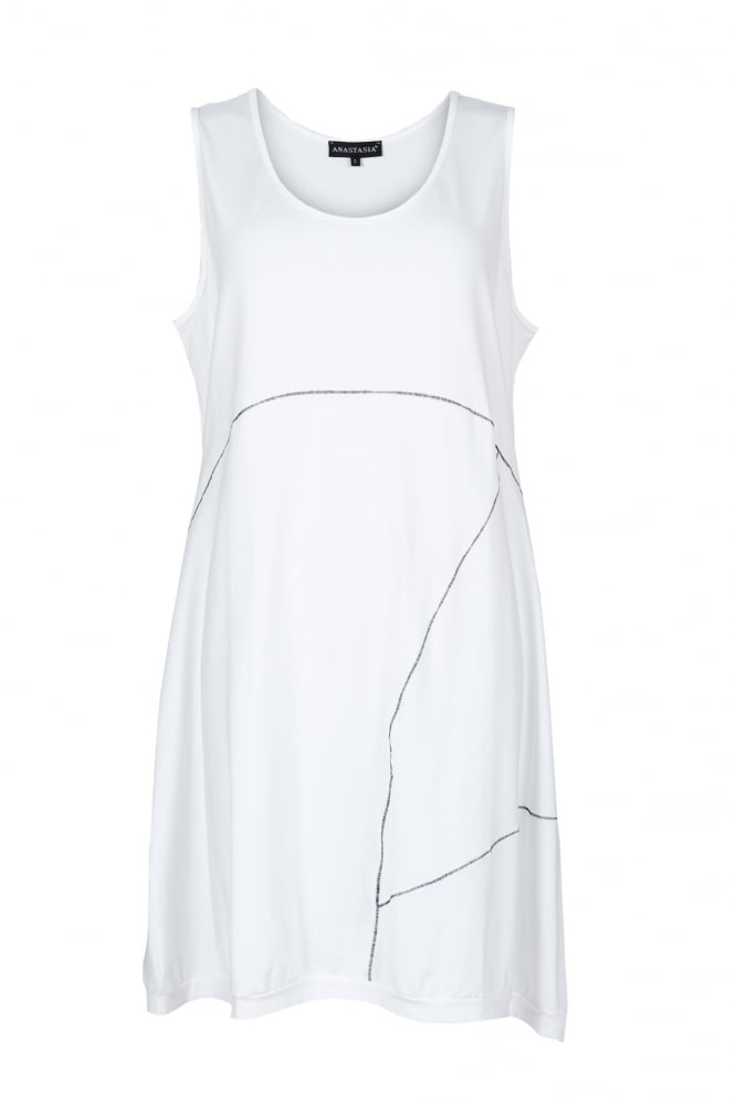 Anastasia Soft White Sleeveless Tunic