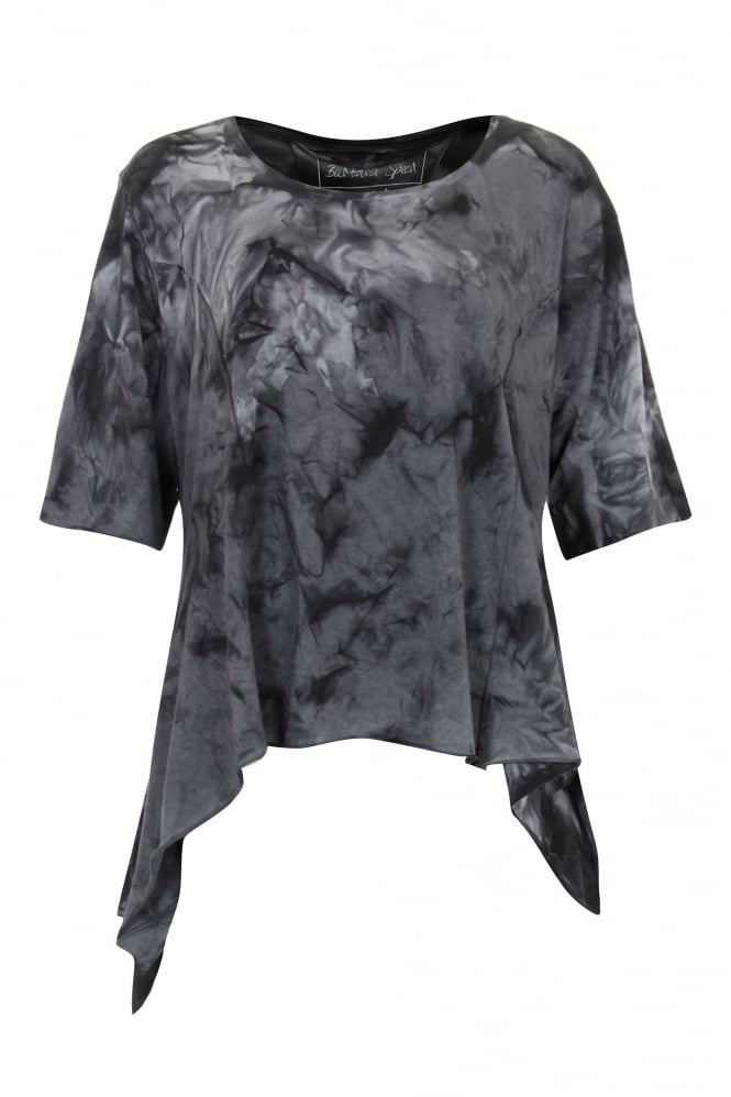 Barbara Speer Anthracite Marble Asymmetric Top