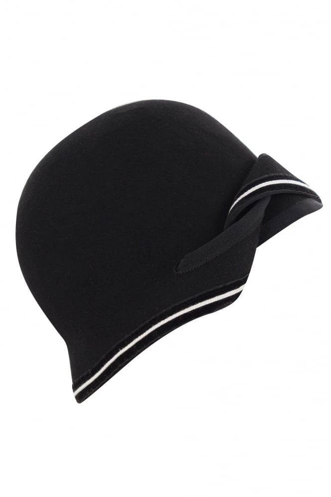 67ad95fdca5 Damiel + Cassiel Black Wool Felt Worence Hat