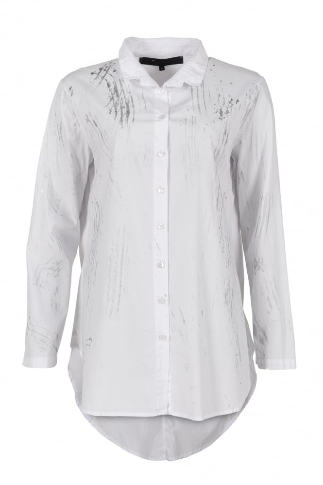 Elli White Splash Print Shirt