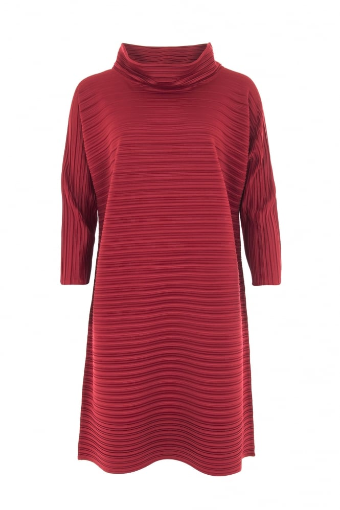 Idaretobe Winter Red Pleat Tunic