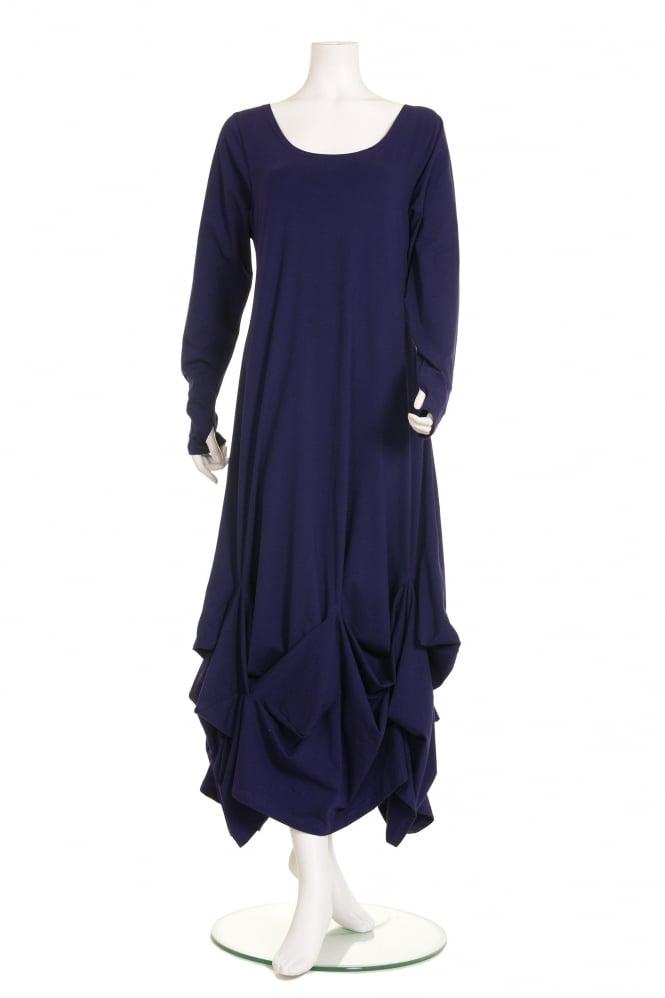 idaretobe Exclusive Denim Blue Linen Dress   idaretobe