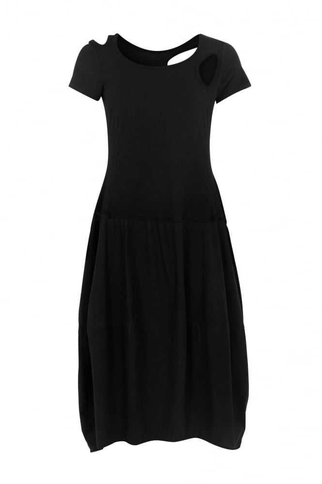 Rundholz Black Label Black Cut-Out Tulip Dress