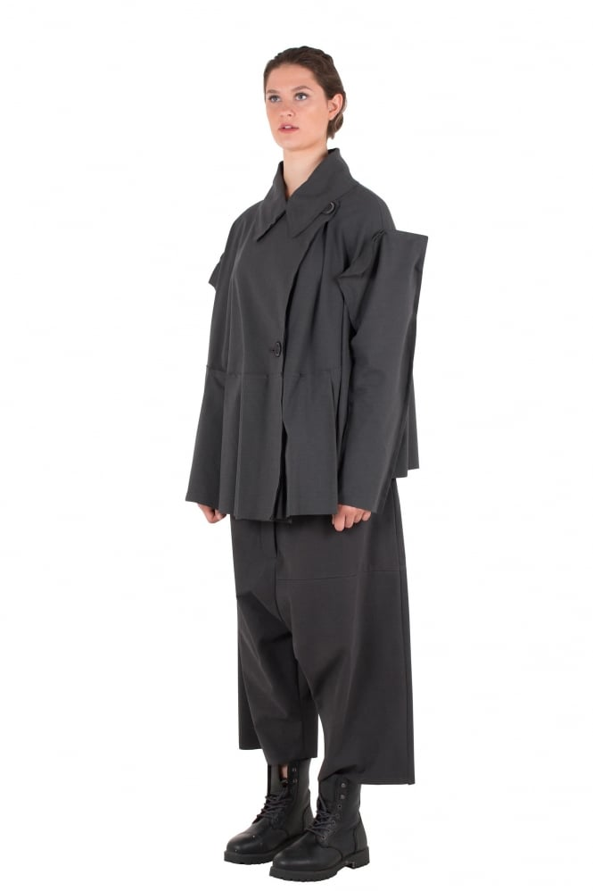 Rundholz Mainline Asphalt Grey Oversized Pleat Jacket