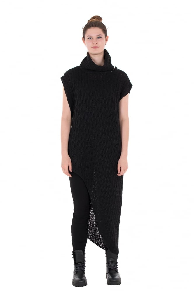 Xenia Design Sola Black Knit With Collar