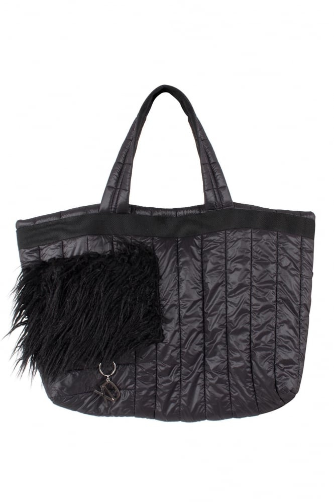 Xenia Design Black Quilted Shopper Bag