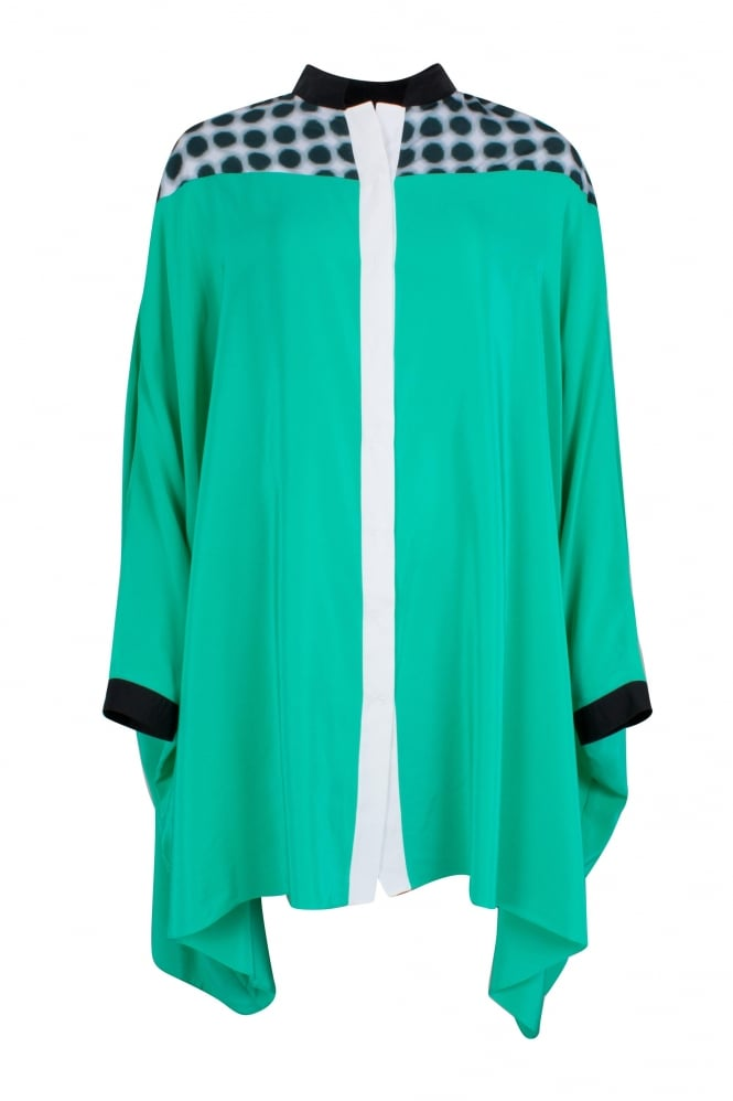Irina Schrotter Green Statement Shirt