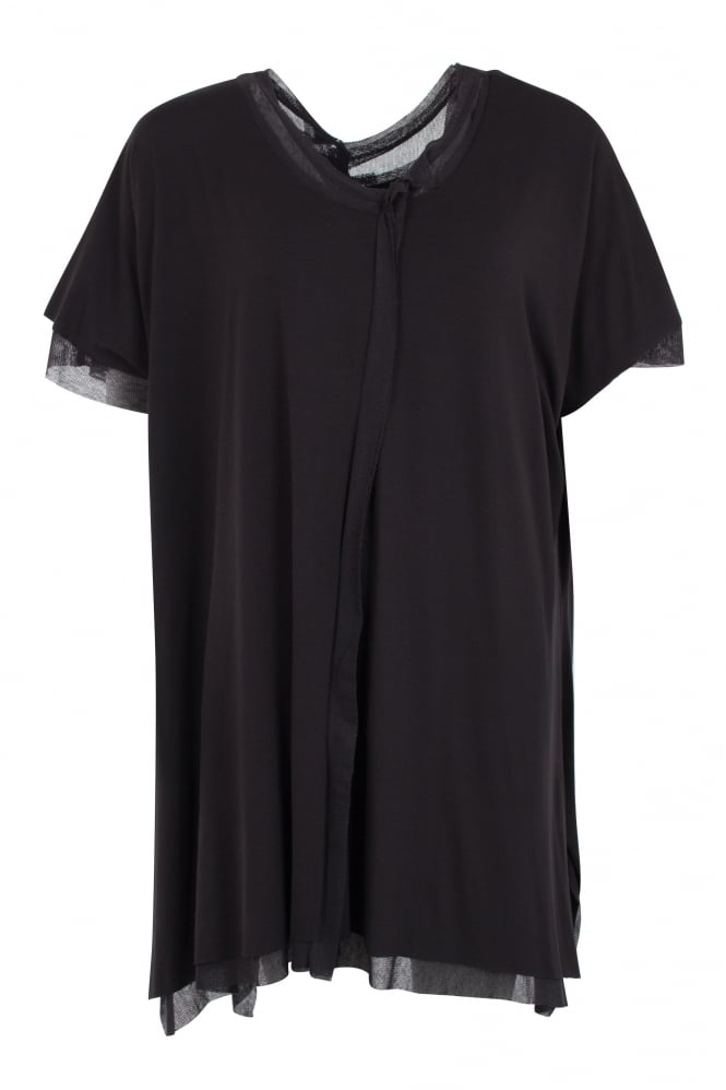Barbara Speer Black Double Layer Oversize Tunic