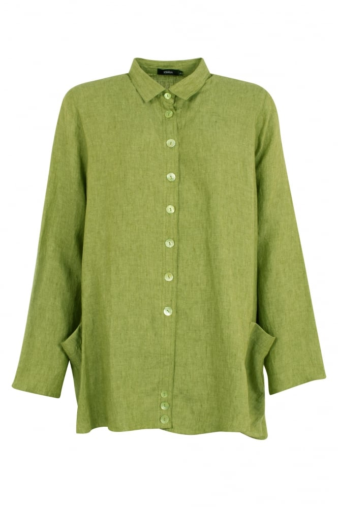 Ralston Pistachio Green Wally Linen Shirt
