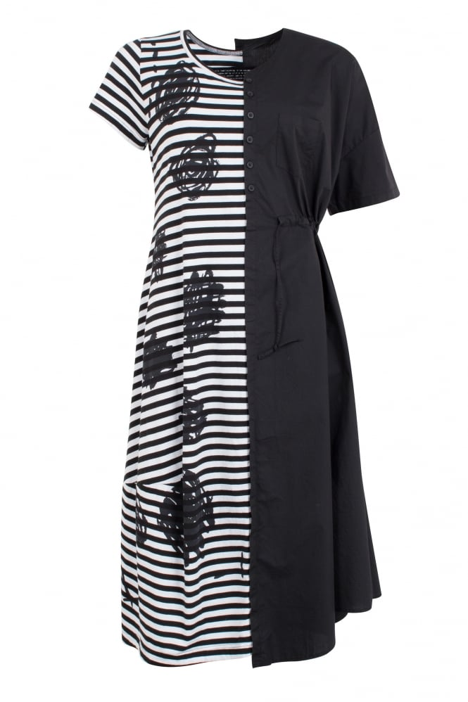 Rundholz Black Label Black & Stripe dress