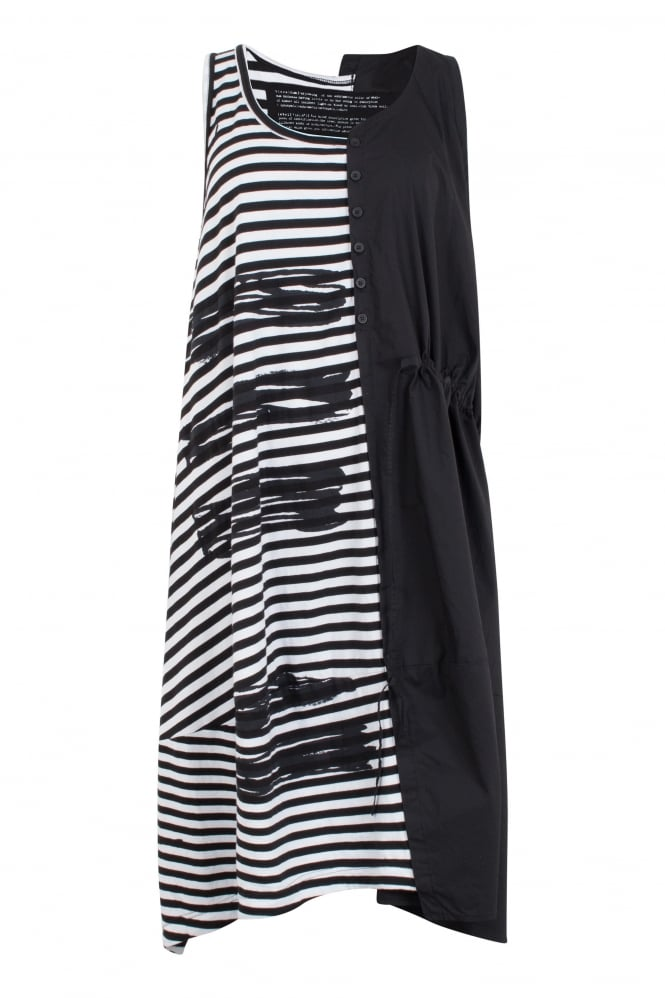 Rundholz Black Label Stripe & Squiggle One-Size Dress