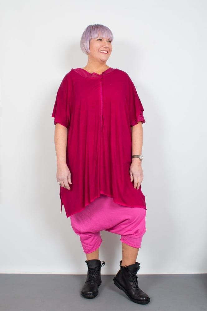 Barbara Speer Pink Double Layer Oversize Tunic
