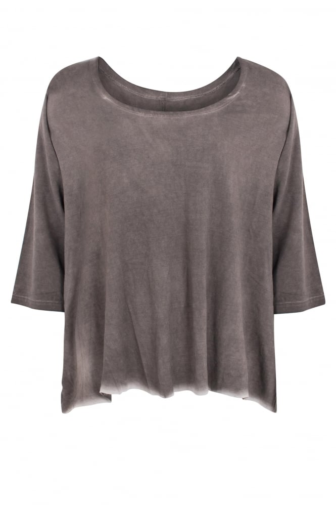 Barbara Speer Taupe 'Old Look' Jersey Flared top