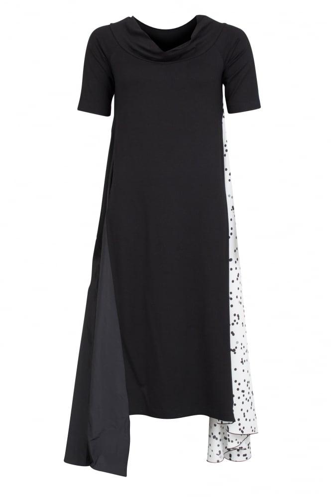 Anyc Textured Panel Dress