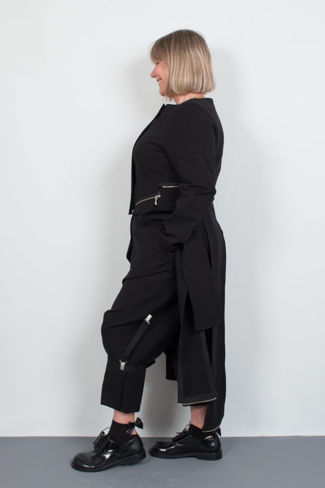Xenia Design Black Brace Trouser