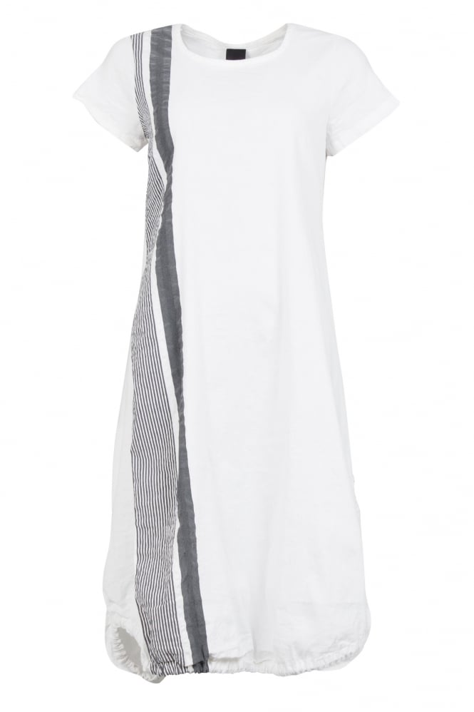 Rundholz Black Label Feature Stripe White Dress