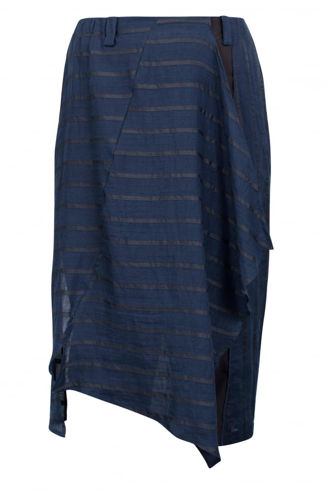 Moyuru Blue Stripe Panel Trouser