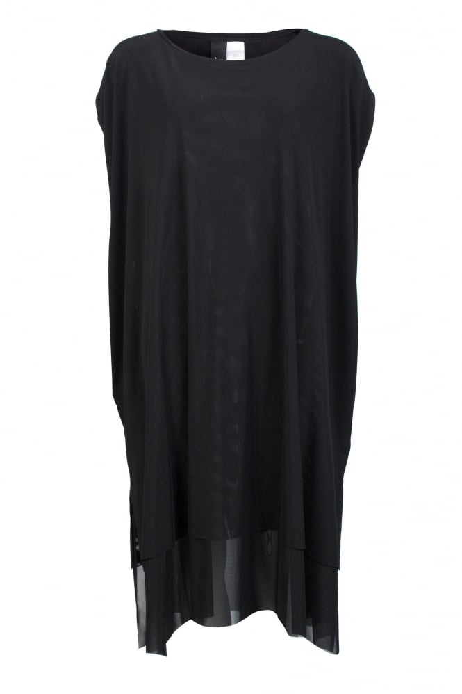 Igor Dobranic Black Mesh Layered Gluck Dress