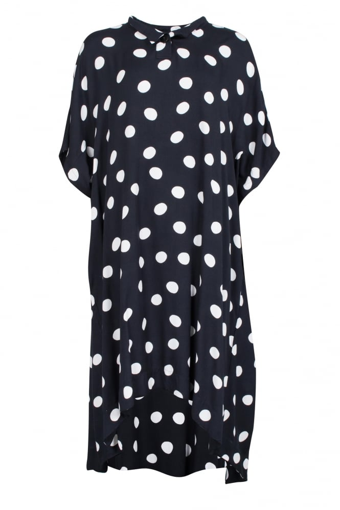 Moyuru Black Spot Print Dress