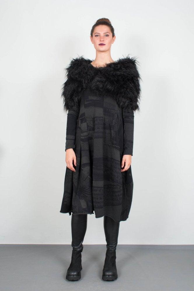 616acb4f3ab1f4 Rundholz Black Label Black Faux Fur Scarf 3601404