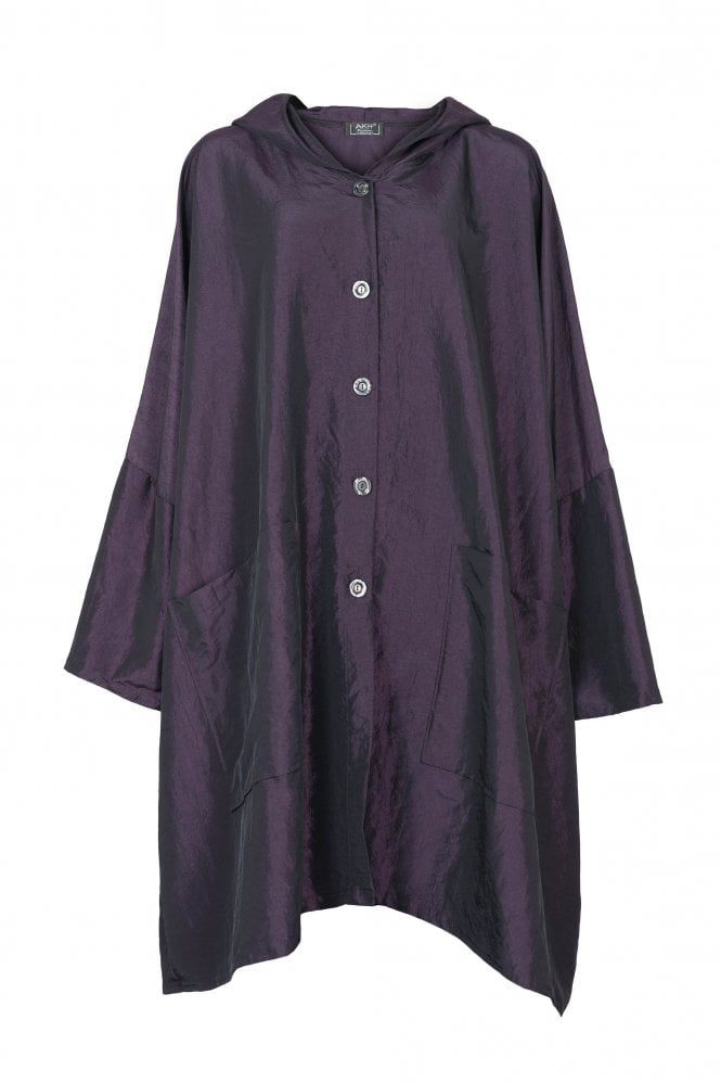 a89ebdb942db AKH Purple Taffeta One-size Evening Coat