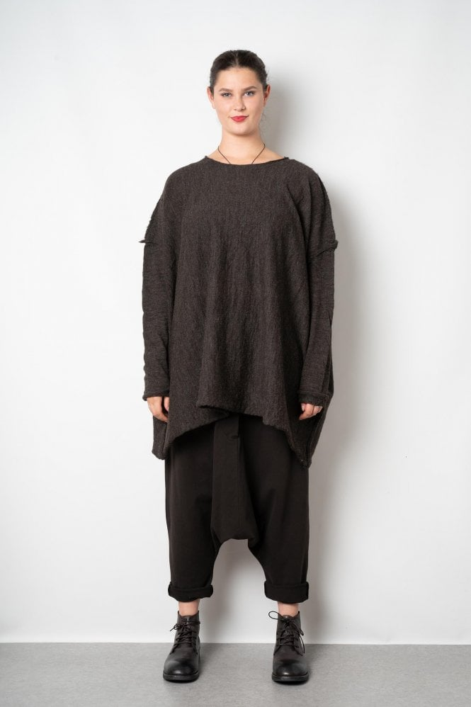 huge selection of 55b09 8559c Barbara Speer Chocolate Merino Wool Oversize Pullover