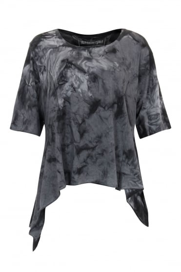 Anthracite Marble Asymmetric Top
