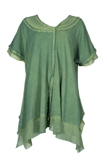 Green Organic Cotton Pullover