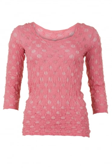 Spotty Dotty Coral Net Shirt